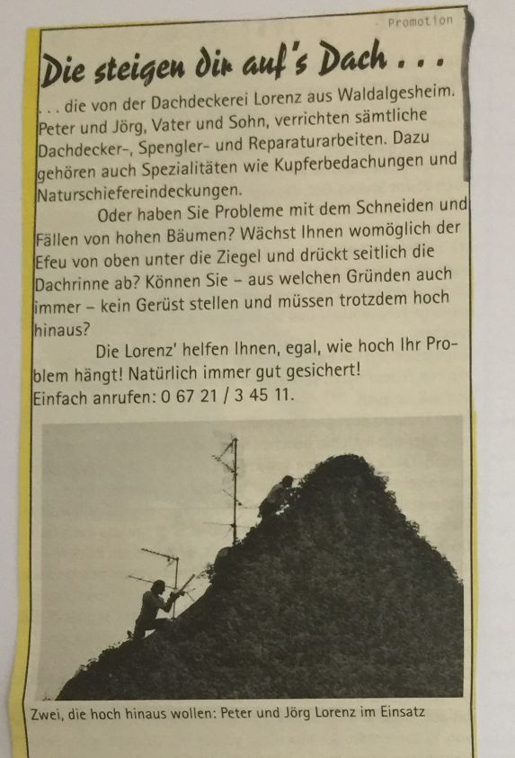 unser Anfang